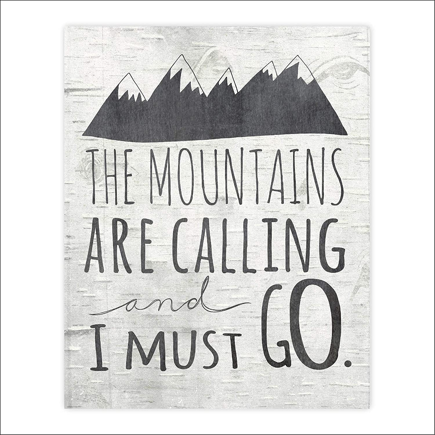 safety The Mountains Are Calling and I Over item handling ☆ Must Go Unframed - 8 Art Print