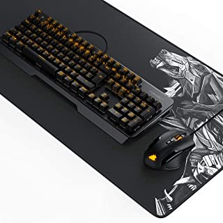 Titanwolf Gaming Set - mechanische Tastatur ALUMAR MMO 10800dpi Gaming Maus Specialist XXL Mauspad - Mechanical Keyboard -...
