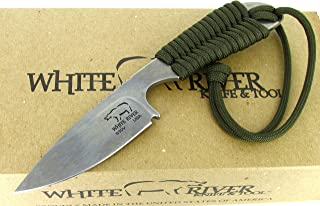 White River Knife & Tool Backpacker Hunting Knife Olive Drab Paracord Handle WRBP-OD
