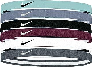 Nike Women's Swoosh Sport Headbands – 6 Pack (Glacier Blue)