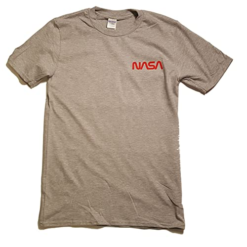 380fe6f9a09 NASA Worm Badge Logo Men's Premium T Shirt Licensed ...