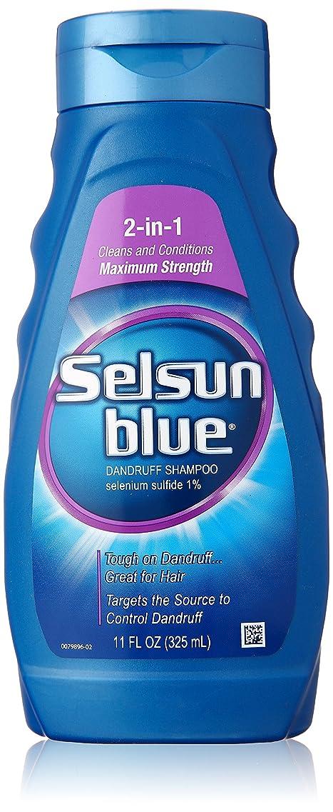 マチュピチュタイムリーなコックSelsun Blue Naturals Dandruff Shampoo 2-In-1 Strength 325 ml (並行輸入品)