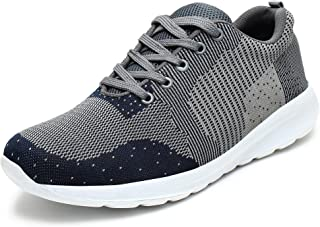 BUWCH Men Black Running Sports Shoe