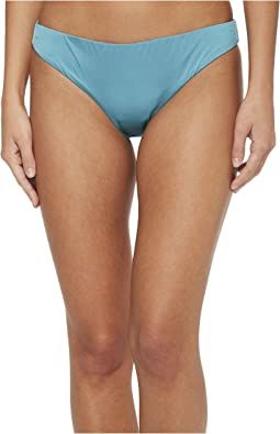 THE BIKINI LAB - Solid Cinched Back Hipster Bikini Bottom