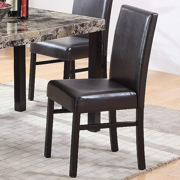 Best Master Furniture CD037 Britney Parson Dining Chair Set Of 2 Espresso