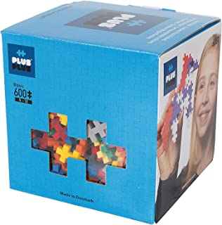 PLUS PLUS - Open Play Set - 600 Piece - Basic Color Mix, Construction Building Stem Toy, Interlocking Mini Puzzle Blocks f...
