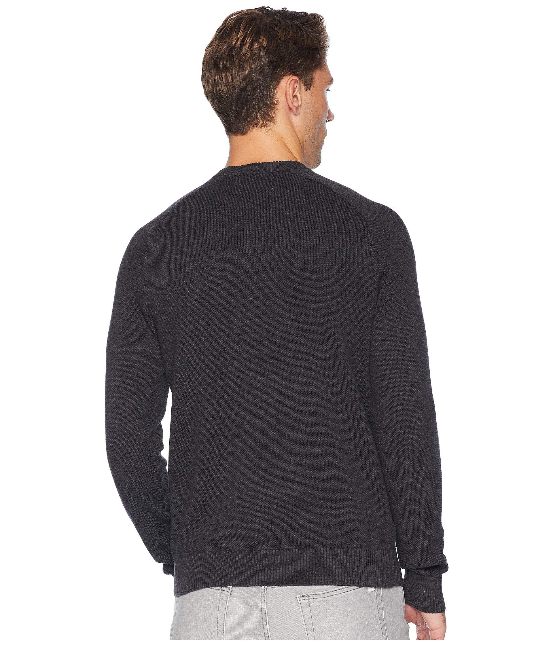Original Heather Dark Sleeve Penguin Pique Charcoal Honeycomb Long Sweater vxzvwrBq