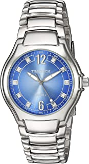 ساعة Viva Time للرجال 2802M Timetech Denim Analog Display Japanese Quartz فضية