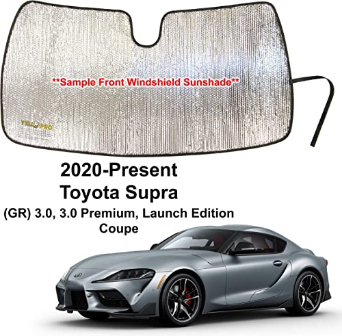 popular YelloPro Auto discount Custom Fit Car Front Windshield Reflective Sunshade Protector for 2020 2021 online sale Toyota Supra (GR) 3.0, 3.0 Premium, Launch Edition Coupe, Sun Shade Accessories, Made in USA outlet online sale
