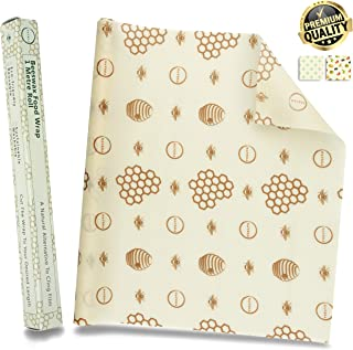 Navega Beeswax Food Wrap - Roll (13 x 39'') Reusable Beeswax Wrap | Sustainable Food Storage | Sandwiches, Cheese, Fruit, Bread | Cotton, Beeswax, Jojoba Oil, Tree Resin | Cling Film Alternative