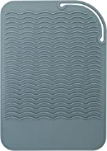 ST 522101 Heat Resistant Silicone Travel Mat for Curling Irons and Makeup, 9.1 Inch x 6.5 Inch, Grey