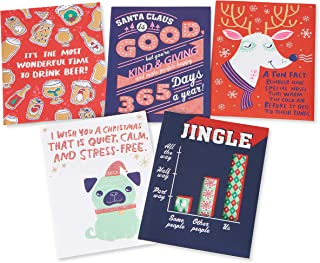 American Greetings Funny Christmas Card Bundle, Variety (5-Count)