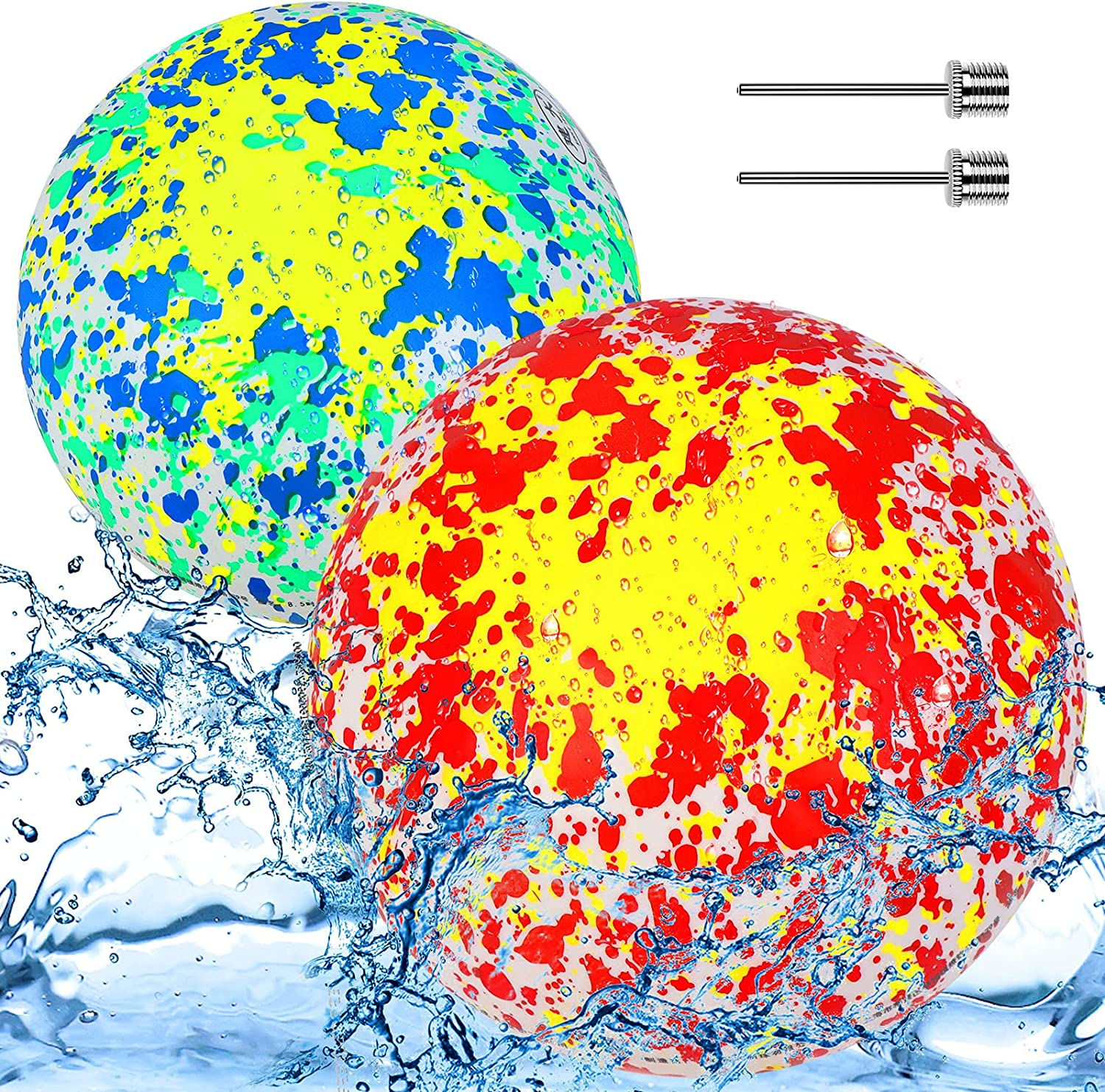 37YIMU 2Pcs New arrival Swimming Pool Ball 8.5 favorite Toy Inch Water
