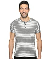 Kenneth Cole Sportswear - Short Sleeve Marled Stripe Henley