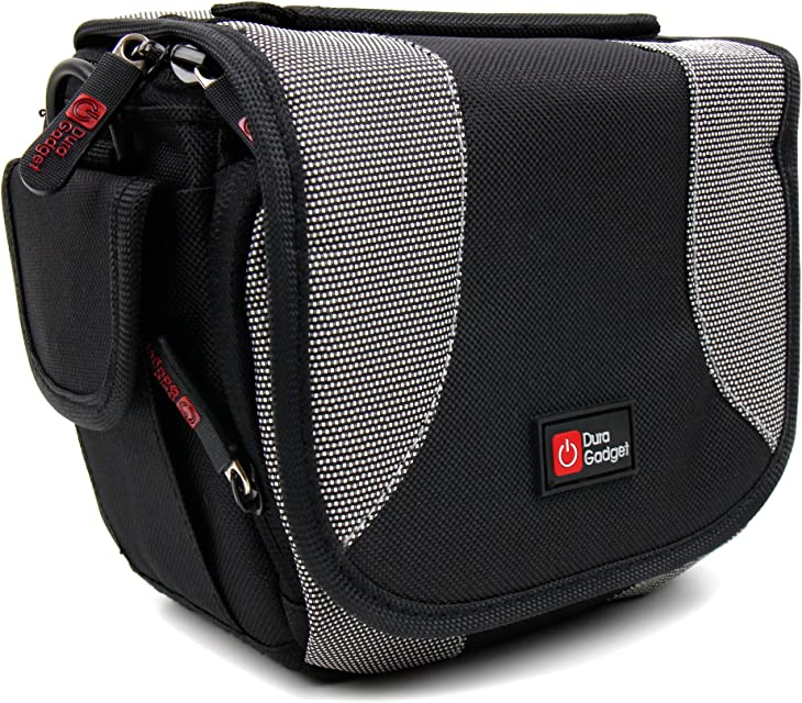 DURAGADGET Bolsa adaptable para cámara compatible con Toshiba Camileo H20HD