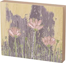 """Primitives by Kathy Friendship Heart Gallery Block Sign, 7"""" x 6"""", Grow Positive Thoughts"""