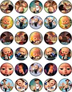 30 x Edible Cupcake Toppers Themed of Baby Boss Collection of Edible Cake Decorations | Uncut Edible on Wafer Sheet