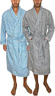 Mens 2-Pack Lightweight Sleep/Lounge Long Bath Robe...
