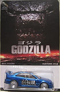 Hot Wheels Custom Honda Civic SI Godzilla Real Riders Rubber Wheels Collectible Die Cast Model Car 1/64 Scale Limited Edition 1/25 Made!!!