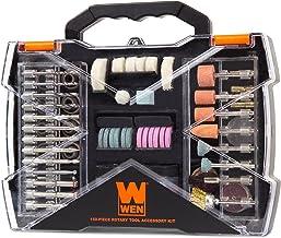 WEN 230151A - Kit de accesorios para herramientas rotatorias (150 piezas, con estuche de transporte)