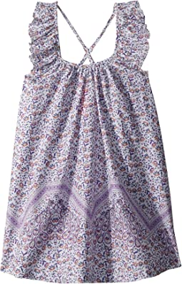 Seafolly Kids Peacock Paisley Frill Dress Cover-Up (Toddler/Little Kids)