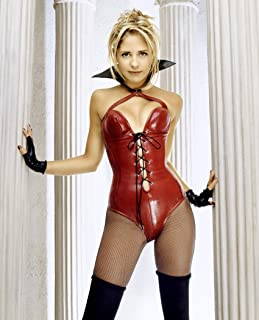 9e2c0b4a6 Sarah Michelle Geller Red Latex Lingerie Mid Modeling Photo (8 inch by 10  inch)