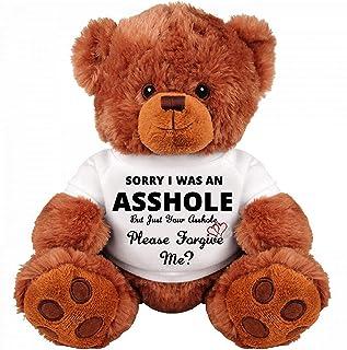 SinMan Sorry Forgive ME. : Apology Gift : Cute and Cuddly : Romantic Funny Teddy Bear Couple Gift : Medium Soft Teddy Bear...