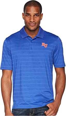 Kansas Jayhawks Textured Solid Polo