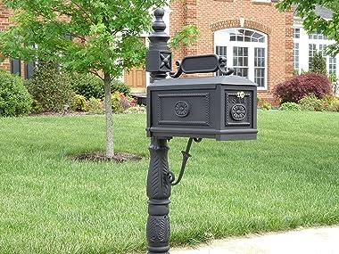 Victorian Barcelona Decorative Cast Aluminum Better Box Mailbox Black