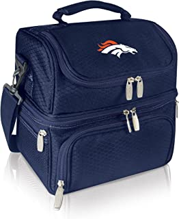PICNIC TIME NFL Denver Broncos Pranzo Insulated Lunch Tote with Service for One, Navy