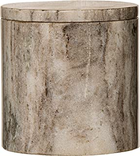 Bloomingville A45202484 Medium Marble Jar with Lid, Beige, Off-white