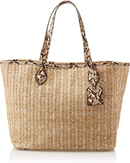 Straw Tote Bag, Tan