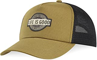 Life is Good Mesh Back Chill Dwyl Patch Hat, Woodland Green