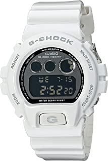 Casio G Shock Japanese Quartz Watch with Resin Strap, White, 16 (Model: DW6900NB-7)