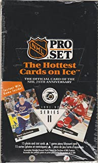 Pro Set NHL the Hottest Cards on Ice Series II 1991-1992 the Official Card of the NHL 75th Anniversary Factory Sealed Box of 36 Foil Packs