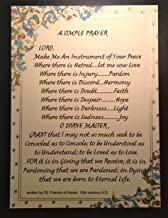 Desiderata Gallery St. Francis of Assisi Simple Prayer for Peace on Handmade Italian Paper with 24 K Gold Leaf Accent.