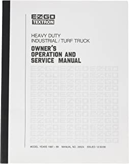 EZGO 26924G1 1987-1990 Owners Operational and Service Manual for Gas EZGO GXT1500
