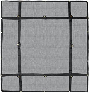 Truck Bed Cargo Net Organizer 4.75'x 6'   Heavy Duty Bungee Webbing, Adjustable & Rip Proof Mesh with Grommet Anchoring Points & Tarp   for Pickup Trucks, Trailers, Vans, Boats & More