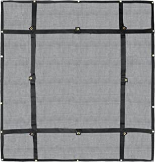 Truck Bed Cargo Net Organizer 4.75'x 6' | Heavy Duty Bungee Webbing, Adjustable & Rip Proof Mesh with Grommet Anchoring Points & Tarp | for Pickup Trucks, Trailers, Vans, Boats & More