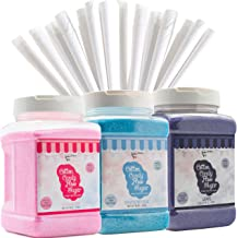 The Candery Cotton Candy Floss Sugar (3-Pack) Includes 100 Premium Cones (3-Pack 46oz with 100 Cones)