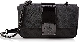 GUESS Women's Logo City Sml Cvrtble Xbdy Flp, Coal - SM747618