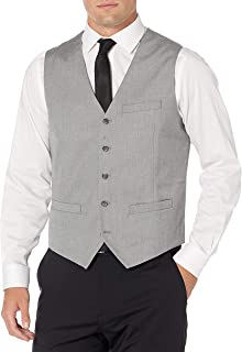 Perry Ellis Men's Slim Fit Stretch Herringbone Suit Vest Blazer