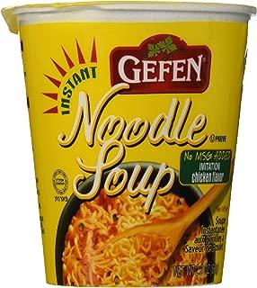 Gefen Instant Noodle Soup Cup 2.3oz (12 pack) No MSG, Chicken Soup Flavor