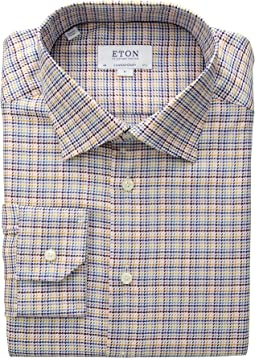 Contemporary Fit Textured Twill Button Down Shirt