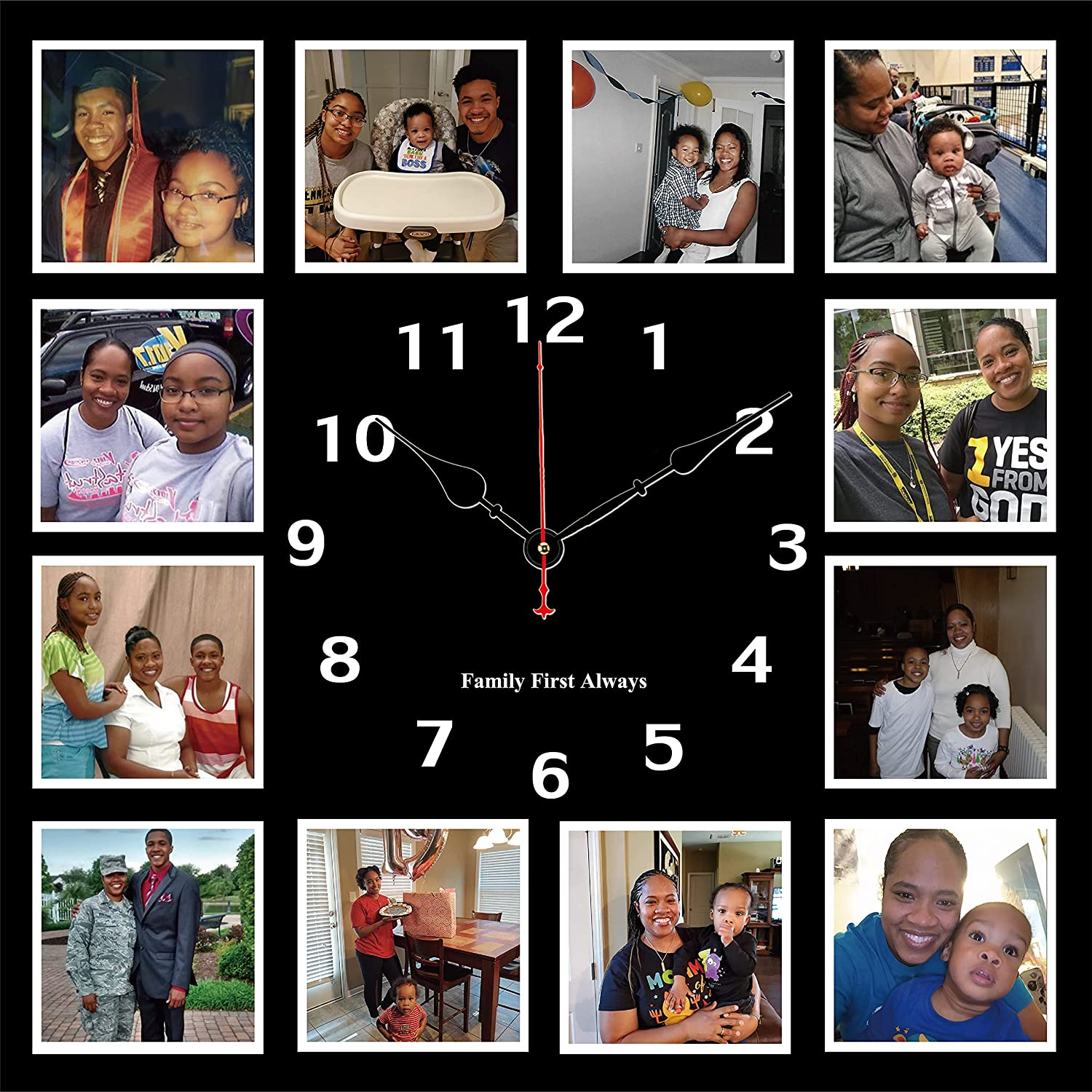 Personalized Photo Frame Wall Clock Family Picture San Diego Mall Cheap Customized C