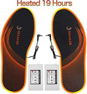 Gamegie Battery Heated Insoles for Men Women - Rechargeable Electric Insoles,Heated Shoes Insoles Rechargeable Foot Warmers for Hunting,Hiking,Cycling