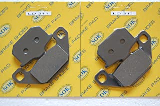 FRONT BRAKE PADS for KAWASAKI 1984-1989 GPZ 750 900 Ninja, 1983-1989 GPZ600 GPZ750 GPZ1000, 1986-1993 ZG1000 Concours(LD311 x2)