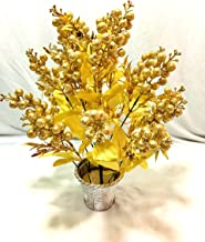 Badshah's Artificial Flower Golden Goli Basket for Home Décor and Gifting Purpose(L*B*H)(20 * 20 * 45cm)