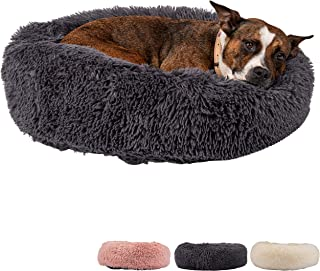 Zenify Pets Calming Dog Bed for Cats or Small Medium Dogs Puppy (70cm, Dark Grey)