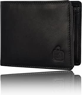 Le Craf Men's Black Genuine Leather RFID Blocking Wallet